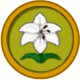 White Lily Circular Icon by JedsOtherPoem