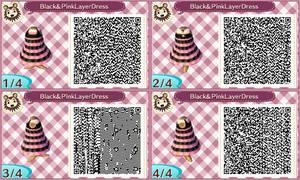 Black And Pink LayerD ress