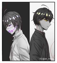 Anime boys by akmiew