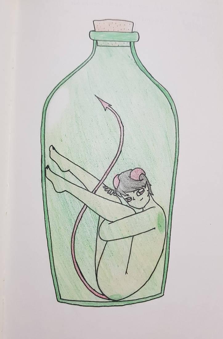 Demon in the bottle by FadaLovely
