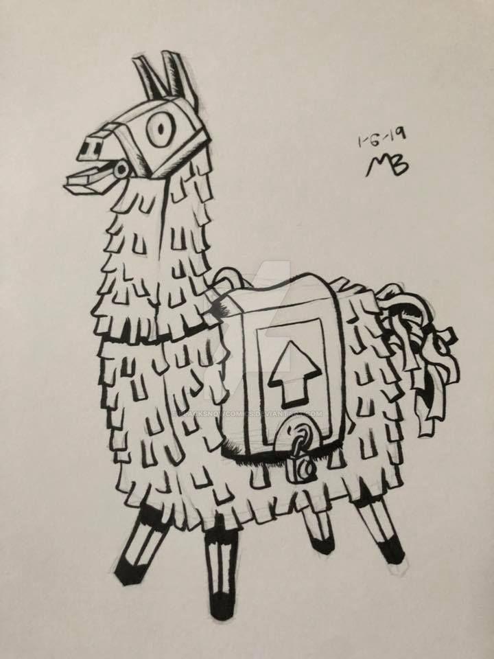 It's just a photo of Terrible Fortnite Llama Drawing