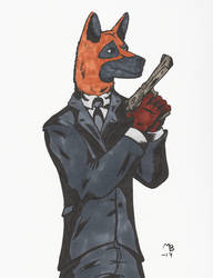 Detective Redmond by BlackSnowComics