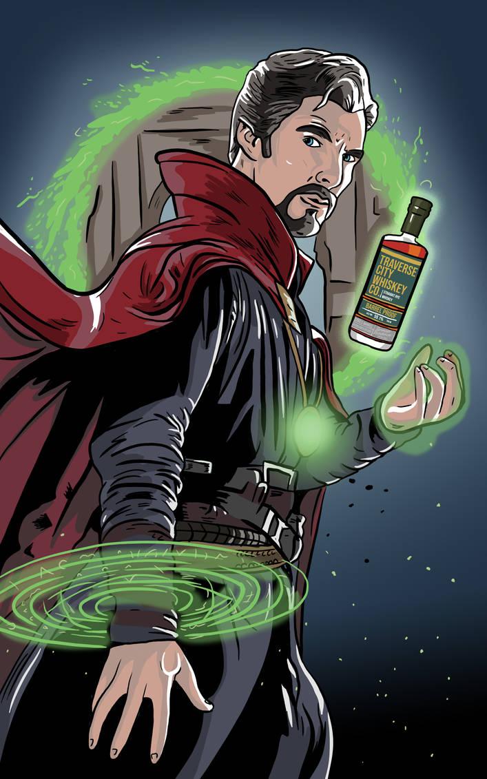 Dr. Strange Whiskey Label