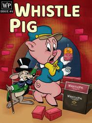 Porky Pig Brick Whiskey Label