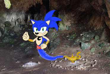 Sonic as The Genie by The-Skyward-Wolfman