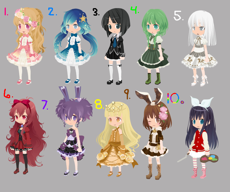 Free color adopts! CLOSED! by Leafy089