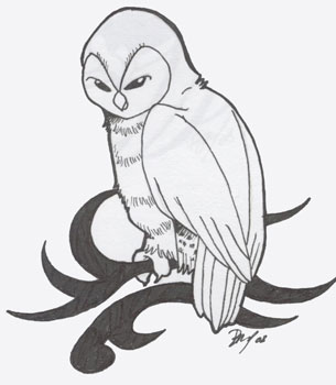 Barn Owl Tribal by Shanachie-fey