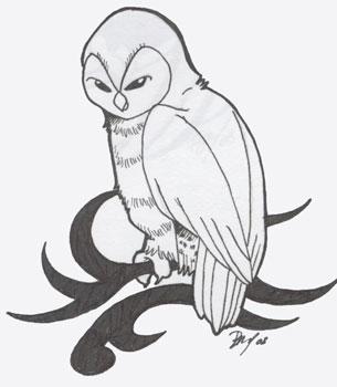 Barn Owl Tribal by Shanachie-fey