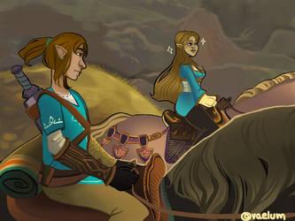 Zelda and Link by finnien