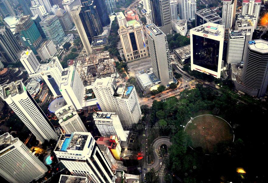 Bird-eye view cityscape by MadeGood