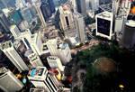 Bird-eye view cityscape