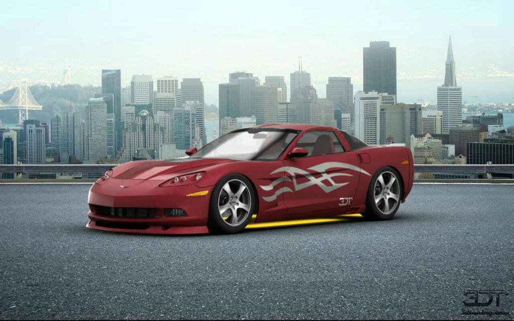 Jenna Red Corvette  by Rushmao17