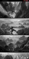 [Iron-Man-3]_redsteam_enviro_CHINA_Mountains_WIP by 0BO