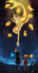 Golden mermaid by zaameen