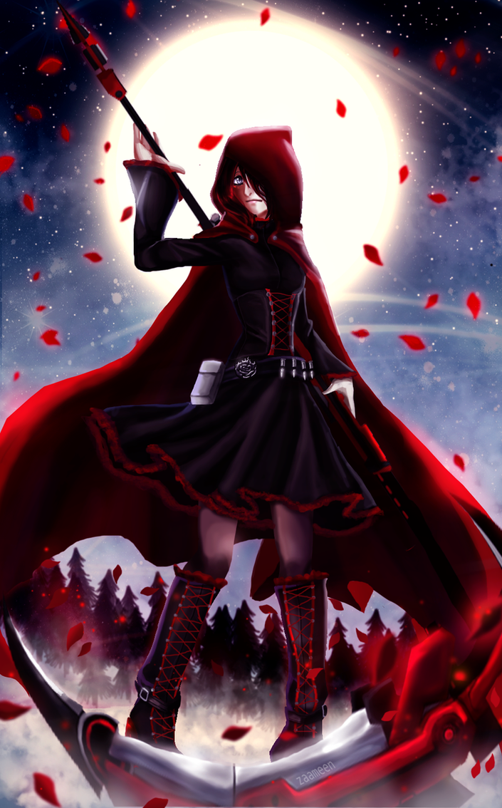 Ruby rose rwby by zaameen on deviantart - Rwby deviantart ...