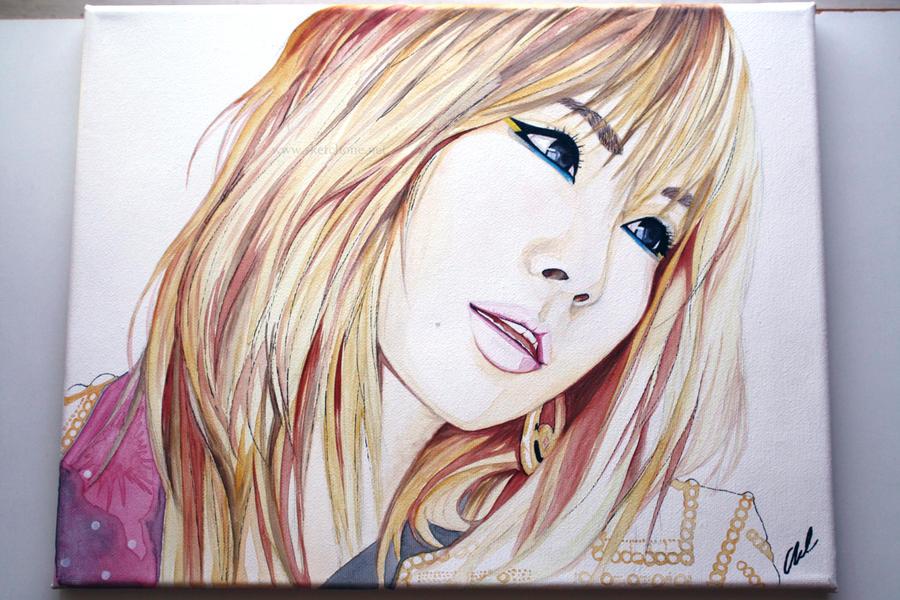 CL -- 2NE1 Painting Fanart by antuyetlai