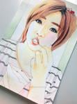 Ham Eun-jeong -- T-ara fan art painting