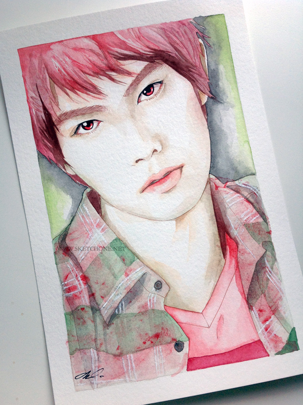 Lee jonghyun cnblue fan art painting by antuyetlai on for Lee s painting