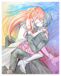 Kirito and Asuna -- Sword Art Online fan art