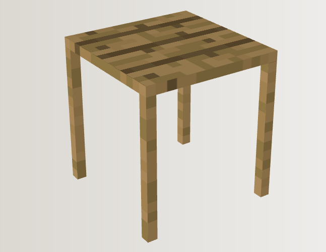 minecraft workshop and wine wooden table by neonlugia