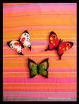 Butterflies felt brooch