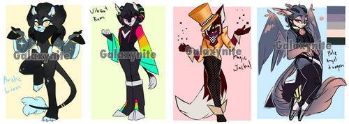 Colorful Adoptables(closed) by Galaxynite