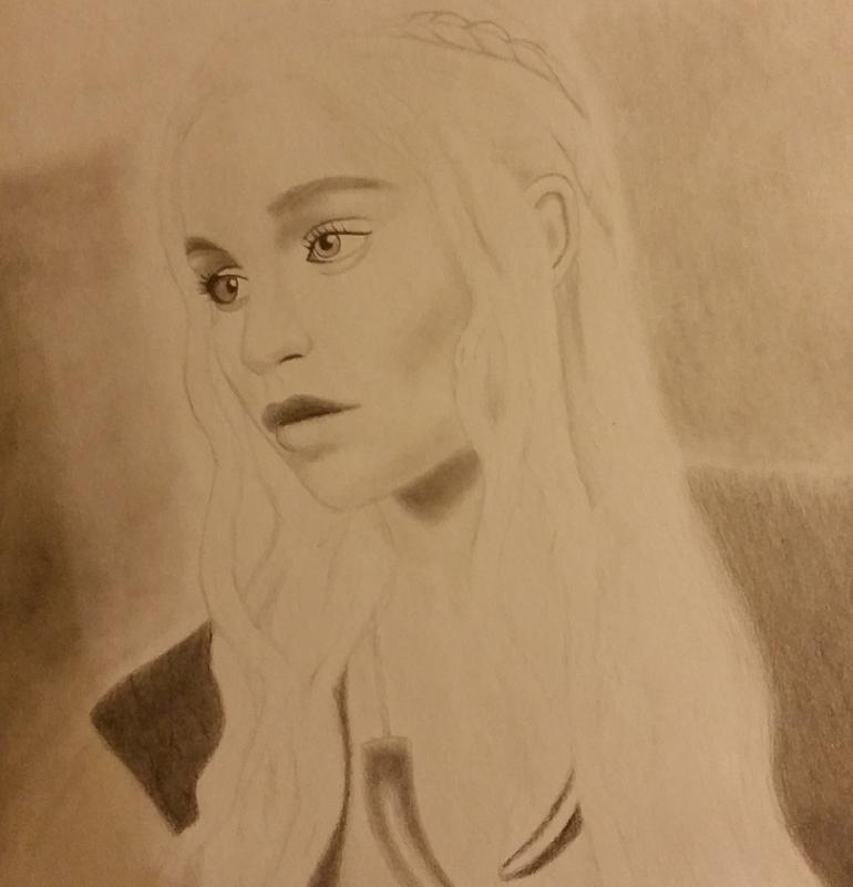Emilia Clarke as Daenerys Targaryen by HiImWR