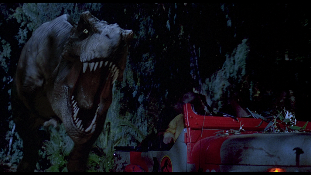 Jurassic park t rex chasing jeep by Mad-Man-with-a-Pen