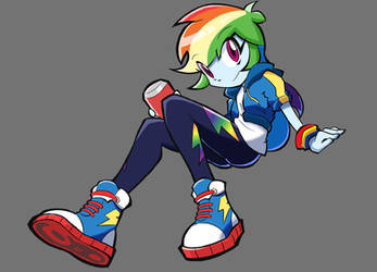 EqG Rainbow Dash by rvceric