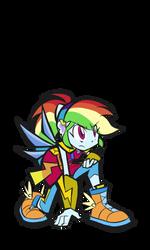 Rainbow Dash Magic Form by rvceric