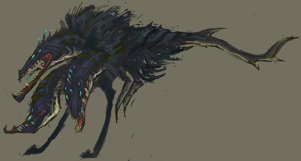 DEEP sketch: Cerberus by UlaFish