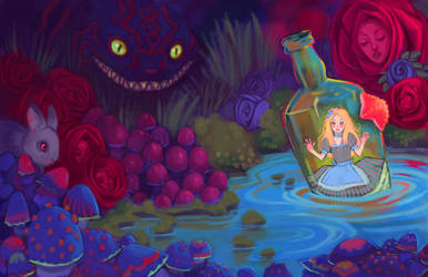 Alice in Wonderland by UlaFish