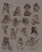 Goblin Sketches by UlaFish