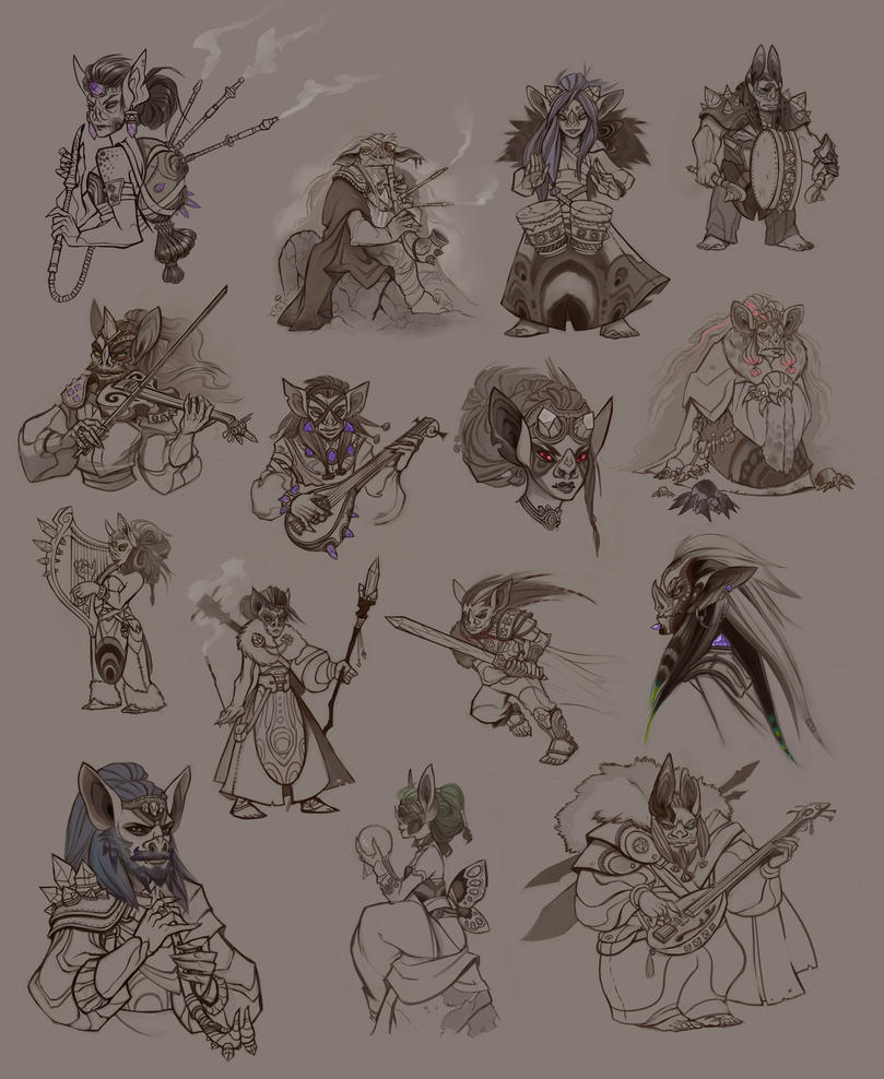 Goblin Sketches by UlaFish