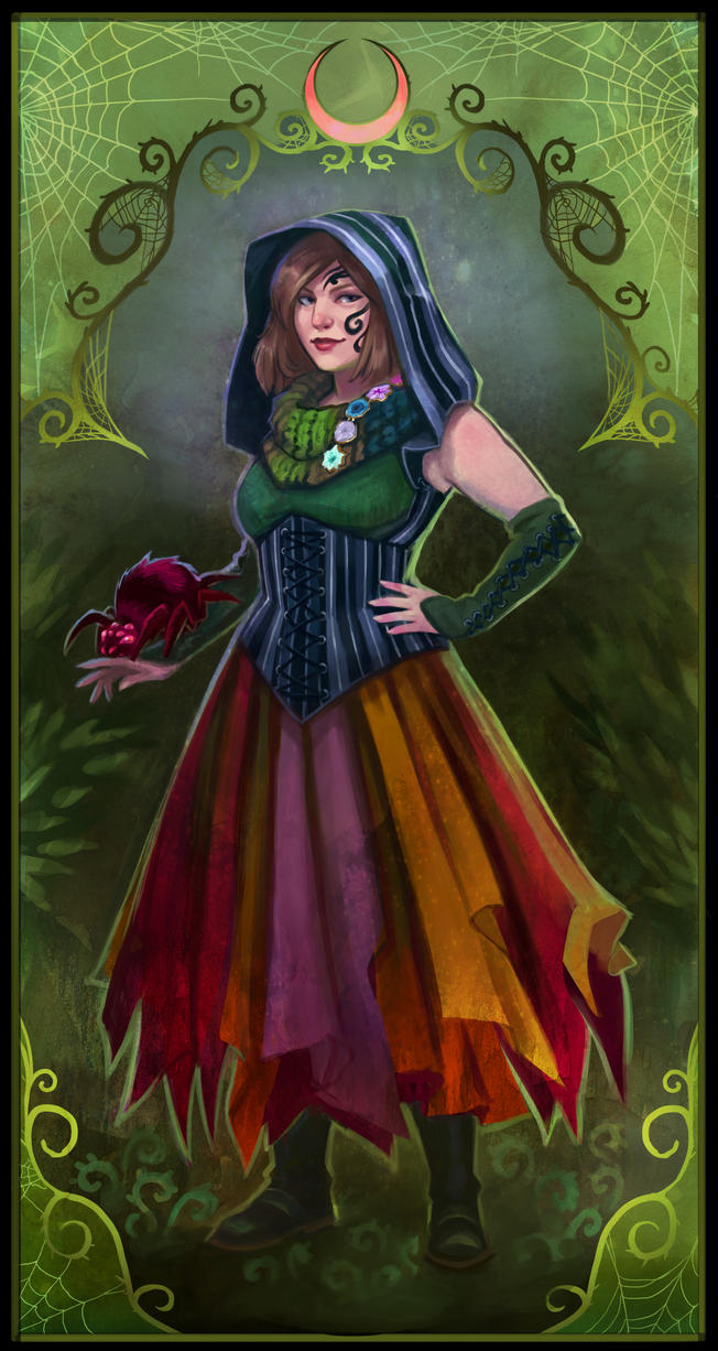 Larp Character Portrait Commission- Naia by UlaFish
