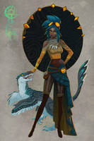 Velociraptor Witch Adopt [CLOSED] by UlaFish