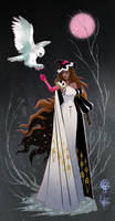 Snowy Owl Witch Adopt [Closed] by UlaFish