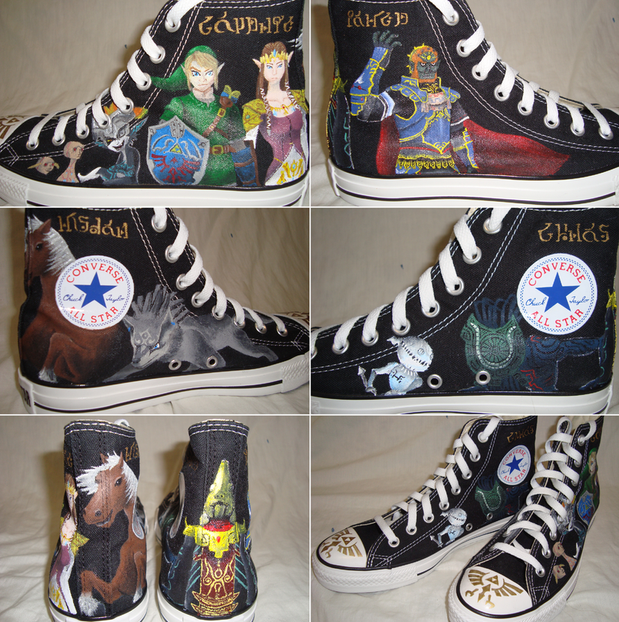 Custom Twilight Princess Converse by Gaani-Hatchinto