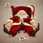 Santa Claus tired
