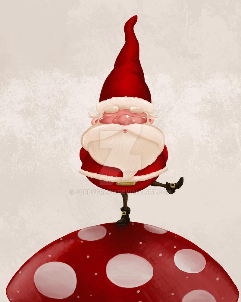 Santa Claus on fungus by jordygraph