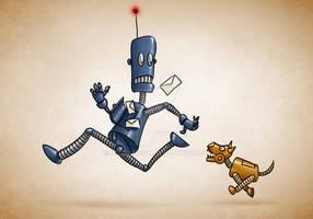 Postmen robot by jordygraph