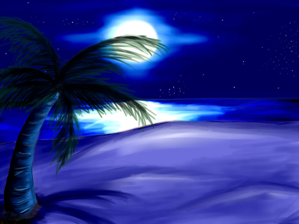 easy night scene paintings - photo #12