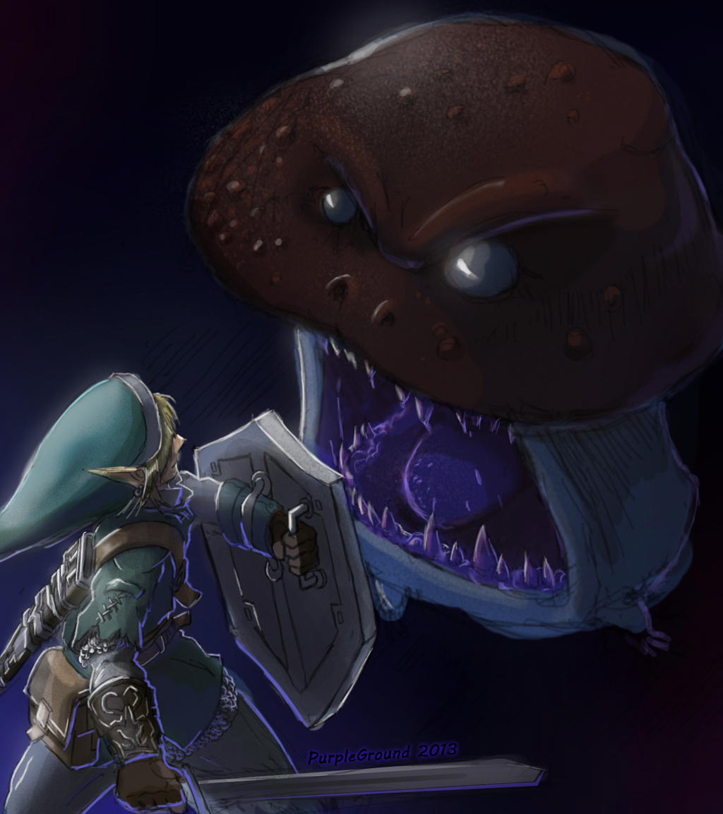 Link Vs Goomba by Purpleground02