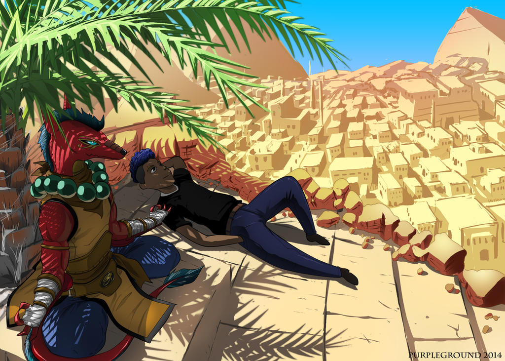 [COMMISSION] Chilling in Egypt by Purpleground02