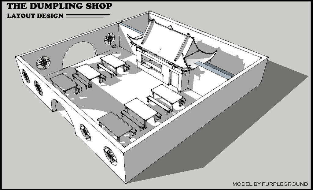 The Dumpling Shop 3D Model by Purpleground02