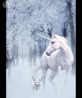 The unicorn and the fox by Azenor