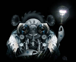 Steampunk armadillo