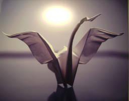Origami Swan by SpringLaurel