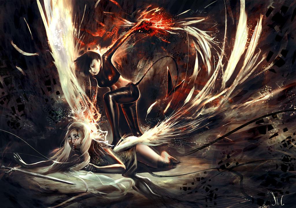 Devil V. Angel By Junedays On DeviantArt