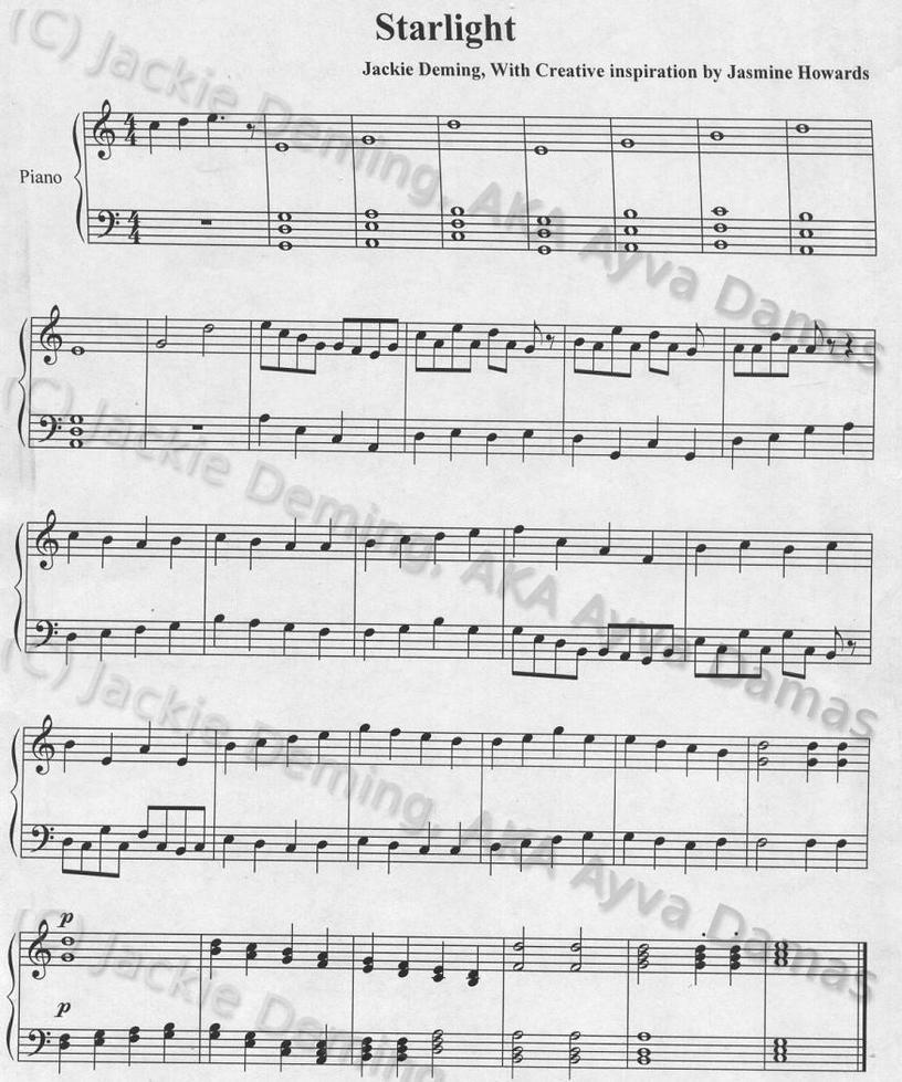 starlight piano sheet music pdf